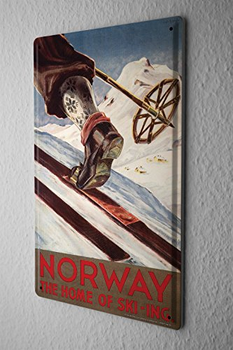 Tin Sign Holiday Travel Agency Norway by LEOTIE