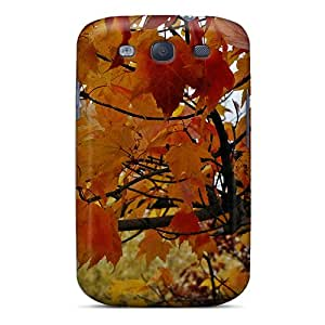 Tpu Case Cover For Galaxy S3 Strong Protect Case - Colorful Fall Design