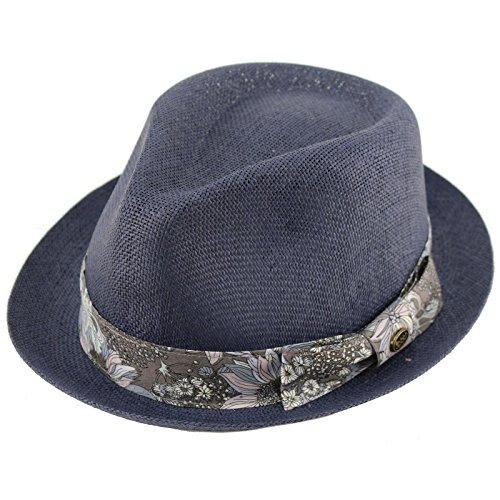 Epoch Men's Floral Paisley Summer Lightweight Derby Fedora Upturn Brim Hat S/M