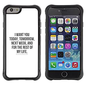 Fuerte Suave TPU GEL Caso Carcasa de Protección Funda para Apple Iphone 6 PLUS 5.5 / Business Style i want you love life my sweetheart honey