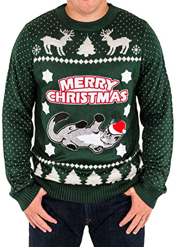 Merry Christmas Ugly Cat Sweater