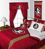 Florida State Seminoles QUEEN Size 14 Pc Bedding Set (Comforter, Sheet Set, 2 Pillow Cases, 2 Shams, Bedskirt, Valance/Drape Set - 84 inch Length & Matching Wall Hanging) - SAVE BIG ON BUNDLING!