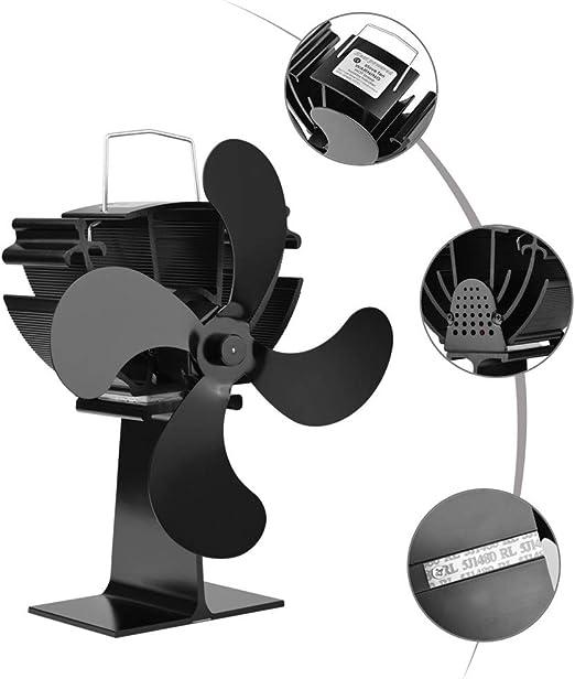 El Ventilador De Estufa De 4 Palas Accionado Por Calor Para Leña ...