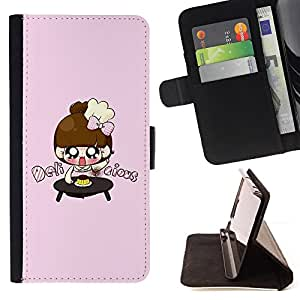 DEVIL CASE - FOR Sony Xperia m55w Z3 Compact Mini - Cute Japanese Anime Girls - Style PU Leather Case Wallet Flip Stand Flap Closure Cover