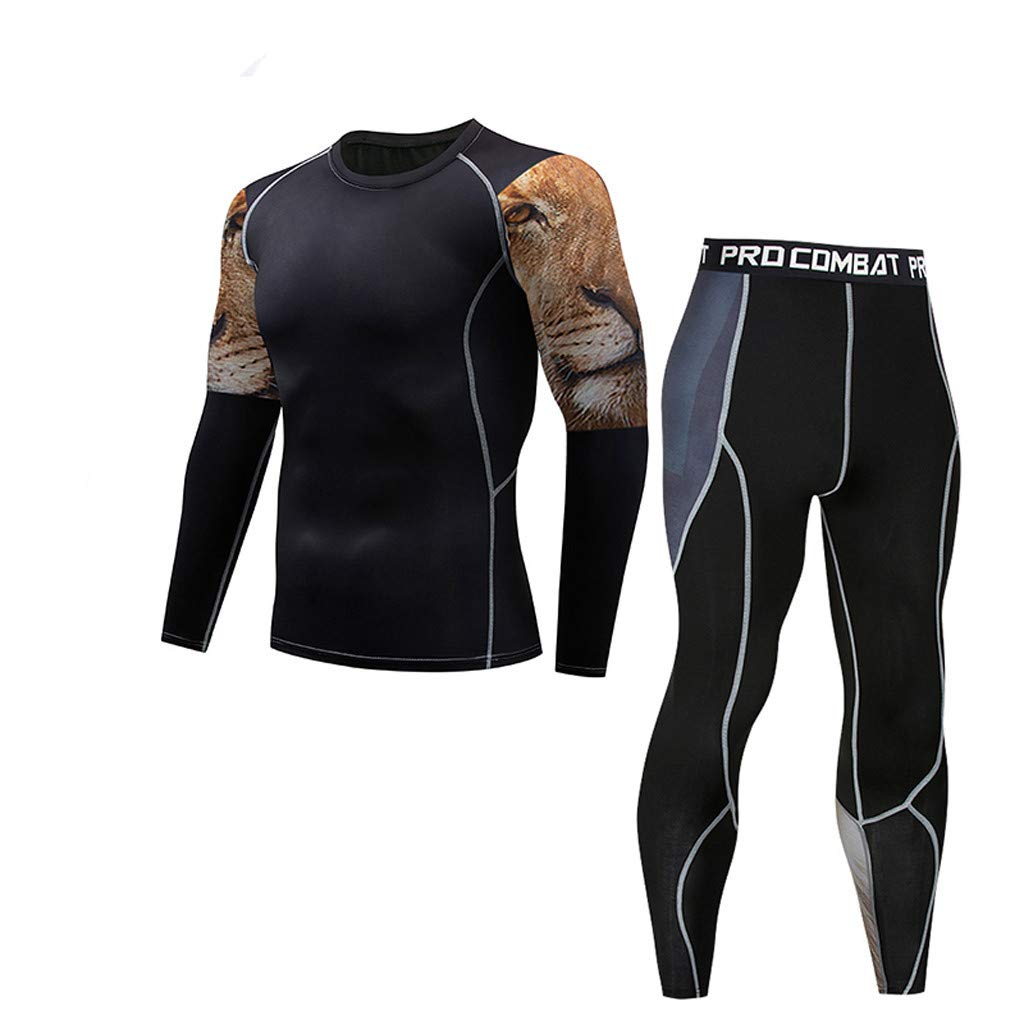 FD-FLY88 Mens Casual Muscle Tank Casual Fitness Sweat-Absorbent Breathable Sports Tank Tight Suit