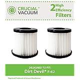 2 Dirt Devil HEPA Style F62 Vacuum Filters, Part # 440001893