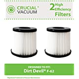 2 Dirt Devil Style F62 HEPA Filters; Fits Royal and Featherlite Vacuums; Compare to Dirt Devil Part No. 440001893; Designed & Engineered by Think Crucial