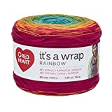 Red Heart Wrap Rainbow Yarn, Fiesta