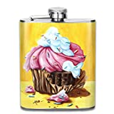Cupcake Top Shelf Flasks Stainless Steel Hip Flask, 7 Oz, Special Design Bridesmaid Flask