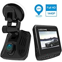 AZDOME Dash Cam Car DVR Dashboard Hidden Camera Recorder 2.31 LCD FHD 1440P 150° Wide Angle,Loop Recording,G-Sensor,Parking Monitor,Motion Detection with GPS