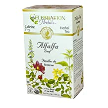 Celebration Herbals Alfalfa Leaf Tea Organic 24 Tea Bag, 26Gm