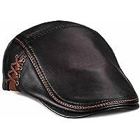 3d49879f78c lethmik Unique Flat Cap Hunting Cowhide Leather Driver IVY Cap newsboy Hat