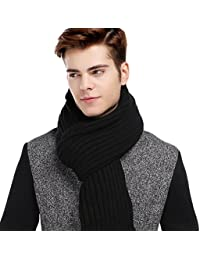 Men's Long Thick Cable Cold Winter Warm Scarf Soft Knitted Neckwear