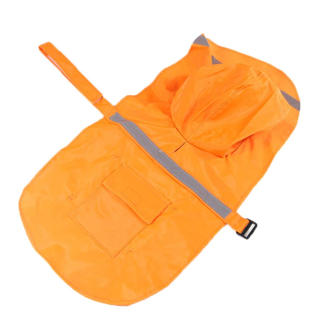 orange SM orange SM Jim Hugh Dog Raincoat Waterproof Large Pet Dog Clothes Outdoor Dog Coats Jacket Reflective golden Retriever