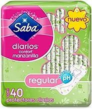 Saba Saba Diarios Confort Manzanilla, Protectores Diarios Regular, 40 Piezas, color, 40 count, pack of/paquete