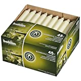 """Bolsius Household Taper Wedding Party Candles Ivory, 7"""" (Pack of 45)"""