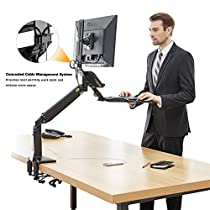 North Bayou FC35 Ergonomics Interactive Sit-Stand Desktop Workstation. Fits Most LED,LCD,Flat Panel Screens Size 22-35 inches,support load from 6.6 to 19.8 lbs (3~9kg)