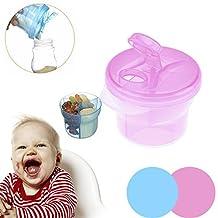 Portable Baby Milk Powder Formula Dispenser Food Grade PP Milk Power Container Storage Feeding Box(Blue)