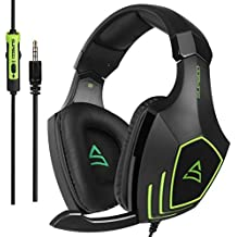 SUPSOO G820 Multi-platform Stereo Professional Gaming Headset Over Ear Headphones with Microphone Volume-Control for PC/PS4/New Xbox One//Phone/Mac/Laptop/Tablets