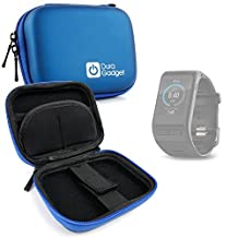 DURAGADGET Premium Quality Blue Hard EVA Shell Case with Carabiner Clip & Twin Zips - Compatible with the Garmin Vivo Active HR and Garmin Vivofit 3 Smartwatches