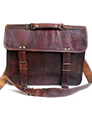 Genuine Leather Laptop Satchel Messenger Bag for Upto 14 Laptop / Macbook