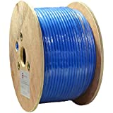 Dripstone 500ft CAT7 S/FTP in-Wall (CMR Rated) UL Listed Bare Copper Solid 23AWG Conductor 600Mhz Fluke Tested Ethernet Wire (Blue)