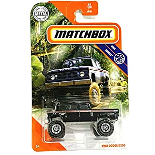 Matchbox MBX Jungle 1968 Dodge D200 (Black) 65/100