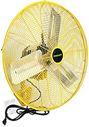 STANLEY 24 Inch Industrial High Velocity Fan Direct Drive All-Metal Construction, 3 Speed Settings, Wall Mount