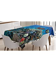 Ambesonne Decor Tablecloth