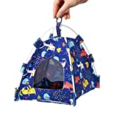 Bird Hammock Tent Nest Parrot Hanging Hut Conure House Parakeet Sleeping Bed Cute