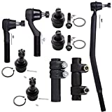 Scitoo 9Pc Upper Lower Ball Joints Inner Outer Tie Rod Ends Complete Kits Ford E250 E350 E450