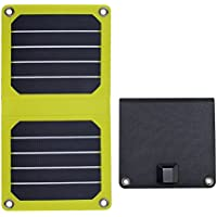 FlexSolar 5W/5V Foldable Solar Charger Portable Sunpower Panel for Power Bank iPhone Samsung Huawei LG Yellow