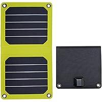 FlexSolar 5W/5V Foldable Solar Charger Portable Sunpower Panel for Power Bank iPhone Samsung Huawei LG Yellow
