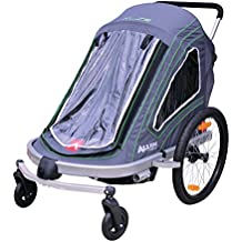 Allen Sports Aluminum 2 Child Trailer/Single & Double Swivel Wheel Stroller