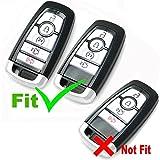 Coolbestda 2Pcs Silicone 5 Buttons Smart Key Fob
