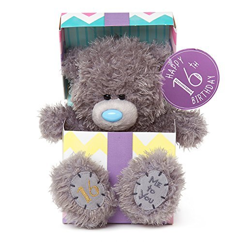 Me to You SG01W4114 7-Inch Tall Tatty Teddy Happy 16th Birthday inside a Present Sits Plush Toy by Me To You