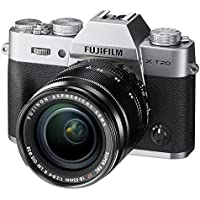 Fujifilm X-T20 Mirrorless Digital Camera w/XF18-55mmF2.8-4.0 R LM OIS Lens - Silver (International Model No Warranty)