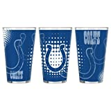 Boelter Brand Indianapolis Colts Halftones Sublimated 16oz Pint Glass Set (2 Pack)