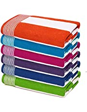 Terry Cabana Stripe Beach Towel and Hotel Pool Towel (30 X 60 inches)