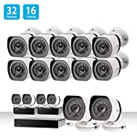 Zmodo 32 Channel Network NVR Security System 16 x IP HD Outdoor Video Surveillance Camera, Motion Detection, w/ sPoE Repeater for Flexible Extension