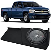 2007-2013 Chevy Silverado Ext Cab Truck Kicker CompR CWR12 Single 12 Sub Box Enclosure - Final 2 Ohm