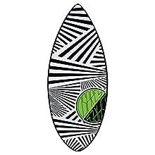 Osprey Surf Unisex Zigzag Tabla de Skimboard, Color Negro, 41-Inch