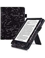 BOZHUORUI Case for Kobo Clara HD - with Stand/Hand Strap - PU Leather Protective Cover with Magnetic Closure and Auto Sleep/Wake (Constellation)