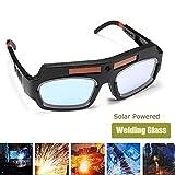xlpace Solar Powered Safety Goggles Auto Darkening Welding Eyewear Eyes Protection Welder Glasses