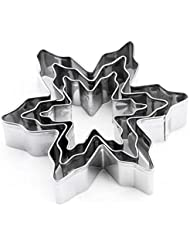 LRZCGB Cookie Cutter Shape Heart Star Flower Decorating Mold Kitchen Stainless Steel Bakeware Tools (Snowflake)