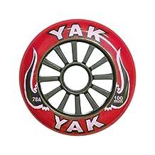 Yak classique 100mm Rouge/Noir Haute Performance Roue de trottinette