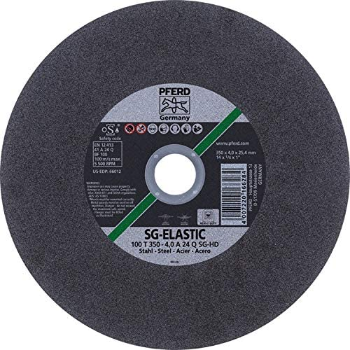 PFERD 66012 14 x 1//8 Stationary Wheel 1 AH A-SG Heavy Duty High Speed 10pk
