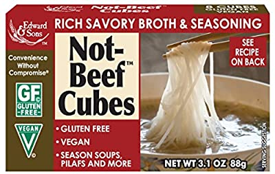 Edward & Sons Not-Beef Bouillon Cubes, 3.1-Ounce Boxes (Pack of 12)