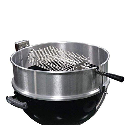 Onlyfire 6042 Chrome Plating Steel Flat Spit Rotisserie Grill Basket Fits  1/2