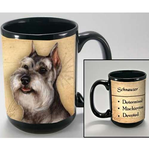 MY FAITHFUL FRIEND SCHNAUZER (CROPPED) COFFEE CUP MUG PET DOG GIFT (Schnauzer Cropped)